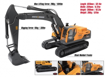 RC4WD 1/14 Scale Earth Digger 360L HydrauliK Bagger RTR - Komplettpaket