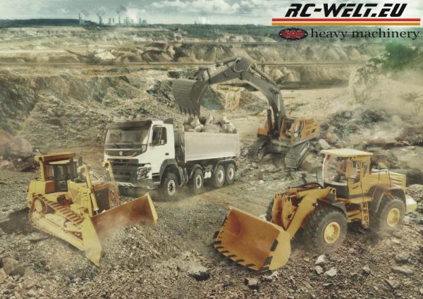 RC-WELT.EU - RC4WD Heavy Machinery Poster A0 1189 x 841 mm